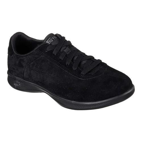 f84f67547db1 Shop Women s Skechers GO STEP Lite Deluxe Sneaker Black - Free Shipping  Today - Overstock - 17669662