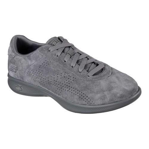 f030f781fcd9 Shop Women s Skechers GO STEP Lite Deluxe Sneaker Charcoal - Free ...