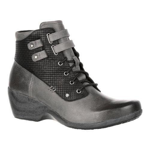 Women's 4EurSole Concerto Wedge Ankle Boot Black Charcoal...