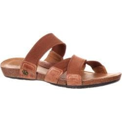Women's 4EurSole Spring Mist Strappy Slide Sandal Dusty Chocolate Leather