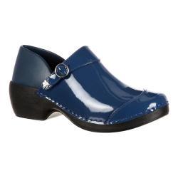 Women's 4EurSole Patent Leather Clog RKH047 Blue Patent Leather