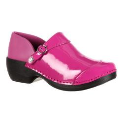 Women's 4EurSole Patent Leather Clog RKH050 Fuchsia Patent Leather