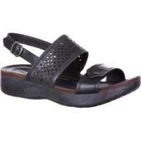 Women's 4EurSole Sprightly Slingback Sandal Black Leather