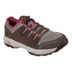 Women's Skechers GOwalk Outdoors 2 Pathway Hiking Shoe Brown/Pink