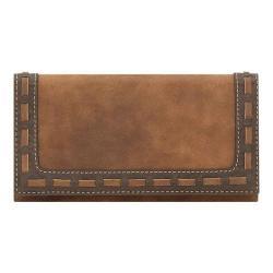 Women's Bandana Guns and Roses Flap Wallet B35 Golden Tan/Brown