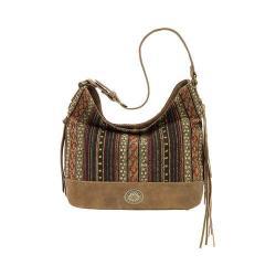 Women's Bandana Serape Shoulder Bag Medium Brown/Autumn Leaves