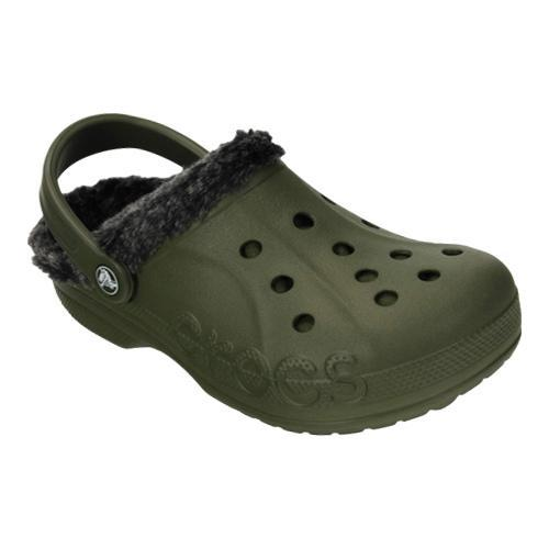 d794727ebeed Shop Crocs Baya Heathered Lined Clog Army Green Black - Free Shipping On  Orders Over  45 - Overstock - 17733624