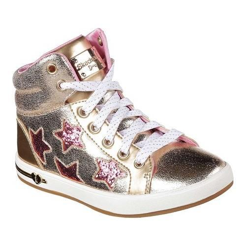 Shop Girls  Skechers Shoutouts Starry Shine High Top Gold - Free Shipping  Today - Overstock - 17669897 a08031fcff91