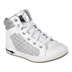 Girls' Skechers Shoutouts High Top Sneaker White/Silver