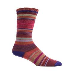 Women's Farm To Feet Ithaca Multi-Stripe Ultralight Crew Sock (3 Pairs) Parachute Purple/Zinfandel