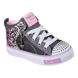 Girls' Skechers Twinkle Toes Shuffles Journey Jumpz High Top Black/Multi