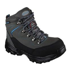 Women's Skechers Work D'Lites Slip Resistant Amasa Alloy Toe Boot Gray/Blue