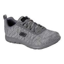 Women's Skechers Work Relaxed Fit Ghenter Slip Resistant Sneaker Dark Gray