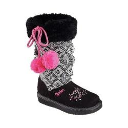 Girls' Skechers Twinkle Toes Glamslam Lil Lovelies Boot Black
