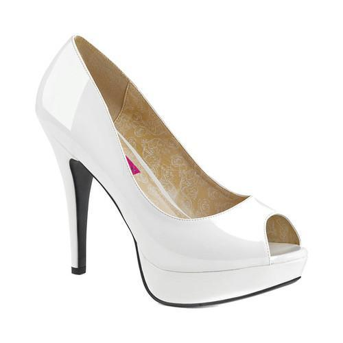 6c7774a92 Shop Women's Pleaser Pink Label Chloe 01 Peep-Toe Pump White Patent - Free  Shipping Today - Overstock.com - 17734084