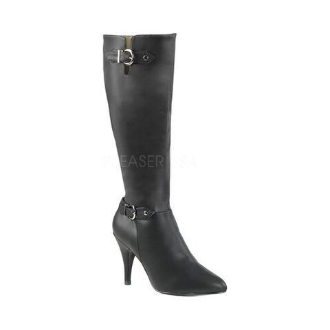 Women's Pleaser Pink Label Dream 2030 Knee-High Boot Black Faux Leather