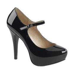 Women's Pleaser Pink Label Chloe 02 Platform Mary Jane Black Patent (More options available)