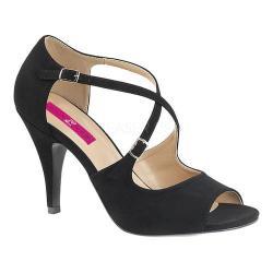 Women's Pleaser Pink Label Dream 412 Ankle Strap Sandal Black Nubuck