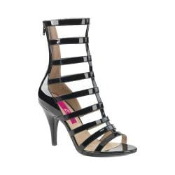 Women's Pleaser Pink Label Dream 438 Cage Shoe Black Patent