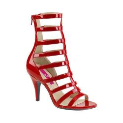 Women's Pleaser Pink Label Dream 438 Cage Shoe Red Patent