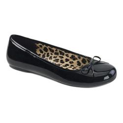Women's Pleaser Pink Label Anna 01 Ballet Flat Black Patent