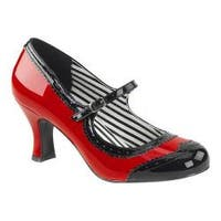 Women's Pleaser Pink Label Jenna 06 Mary Jane Red-Black Patent