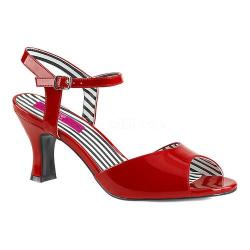Women's Pleaser Pink Label Jenna 09 Ankle-Strap Sandal Red Patent