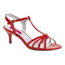 Women's Pleaser Pink Label Kitten 06 T-Strap Sandal Red Patent