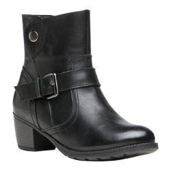 Women's Propet Teagan Wide Calf Boot Black Full Grain Leather