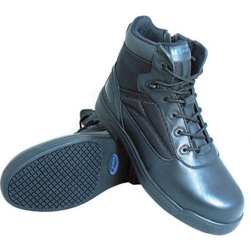 S Fellas by Genuine Grip 5060 Slip-Resistant Thunderbolt Work Boot Black Leather - Thumbnail 1