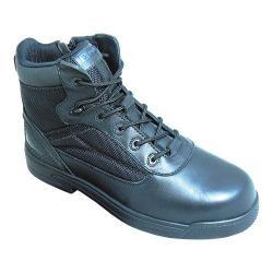 S Fellas by Genuine Grip 5060 Slip-Resistant Thunderbolt Work Boot Black Leather - Thumbnail 0