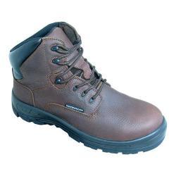 Men's S Fellas by Genuine Grip 6051 Poseidon Comp Toe WP 6in Hiker Work Boot Brown Full Grain Leather