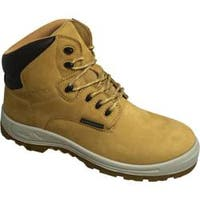 Men's S Fellas by Genuine Grip 6061 Poseidon Waterproof 6in Hiker Work Boot Wheat Brown Leather
