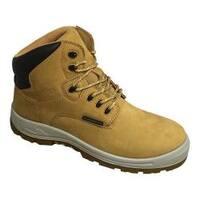 Men's S Fellas by Genuine Grip 6062 Poseidon Waterproof 6in Hiker Work Boot Wheat Full Grain Leather