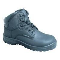 Women's S Fellas by Genuine Grip 660 Poseidon Waterproof 6in Hiker Work Boot Black Full Grain Leather