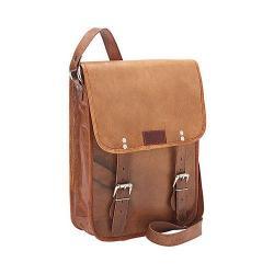 SHARO Genuine Leather Bags Cross Body Messenger Bag Brown