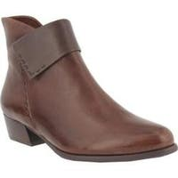 Women's Spring Step Quokka Bootie Brown Leather