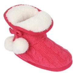 Girls' Stride Rite Charlotte Cable Cozy Boot Slipper Pink