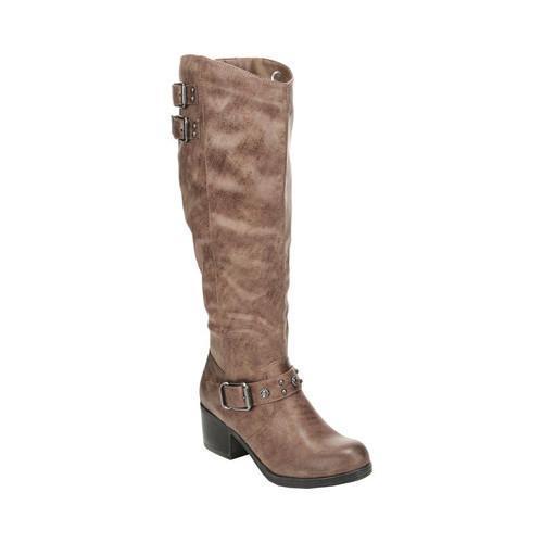 Women's Carlos by Carlos Santana Cara Wide Calf Knee High Boot Taupe Manmade Leather