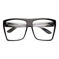 85c6ea69550f6 Shop Spy Men s Cyrus 673180209365 Black White Square Sunglasses ...