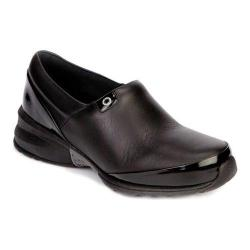 Women's Akesso Professional Footwear Helia Black Leather/Patent Leather