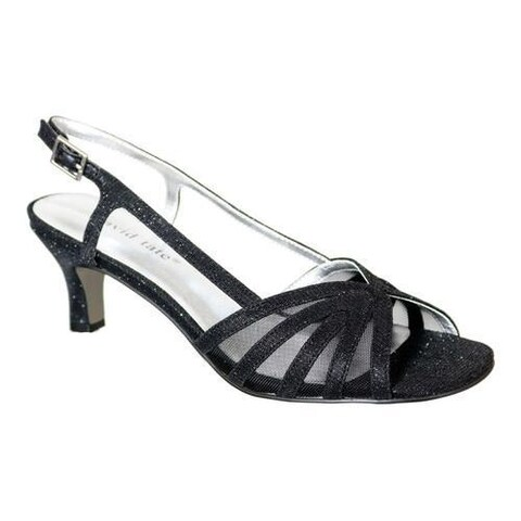 Women's David Tate Ritz Slingback Black Glitter