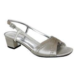 Women's David Tate Wish Heeled Sandal Silver Satin