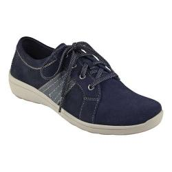 Women's Easy Spirit Litesprint Sneaker Mood Indigo/Blue Softy Suede/Neptune PU