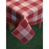 Bistro Check Textaline Indoor/Outdoor Imported Tablecloth