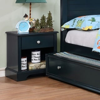 Furniture of America Cing Transitional Solid Wood 1-drawer Nightstand