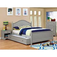 Furniture of America Danson Transitional 2-piece Plank Style Full-size Bed and Trundle Set