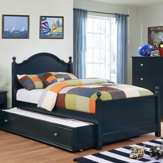 Furniture of America Danson Transitional 2-piece Plank Style Twin-size Bed and Trundle Set