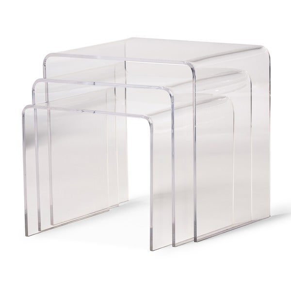 Awesome Acrylic Nesting End Tables (Set Of 3)   Free Shipping Today   Overstock.com    10302784