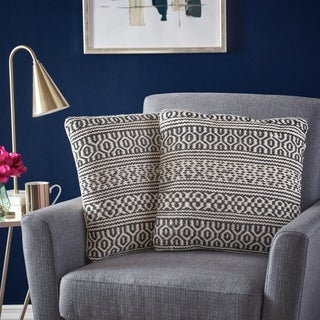 Link to Fargo Handcrafted Boho Fabric Pillows (Set of 2) by Christopher Knight Home Similar Items in Decorative Accessories